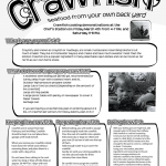 Info flyer about the wonders of the crawfish. In asking around for info to finish this flyer, I was kind of surprised how few people really did know what they were. I guess that's why we needed a flyer made.